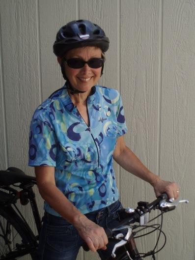 SueTodd rides her bike